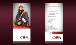 Flyerdesign für die CSR Brandschutzingenieure