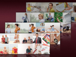 Bildideen für Themen-Broschüren inkl. lithografische Bearbeitung für die Deutsche Rentenversicherung, über 250 Motive