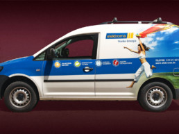 Neues Design für die Firmenfahrzeuge von elektroma