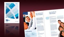 Corporate Design Entwicklung mit Manual-Dokumentation für die Hochschule Weserbergland