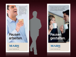 Messe Roll Ups für MARS Drinks, 96 x 200 cm