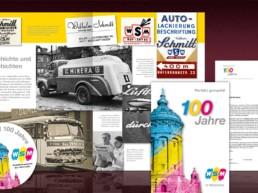 WSM Jubiläumsaktion mit Broschüre, Mailing, Anzeigen, Aufkleber u.v.m.