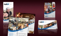 Imagefolder, Aktionflyer und Gutschein für das Fitness- & Wellnesszentrum
