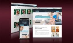 Webdesign für die Physiotherapie-Praxis Hartje